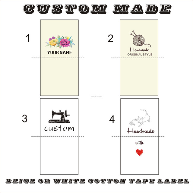free shipping custom clothing cotton printed label/garment cottom tag  printing/main label/diy hand made label/gift label 50 pcs