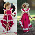 pudcoco Toddler Kids Girl Ruffle Lace Dress Sleevelss Party dress Pageant Dress baby girl Sleeveless Pageant Party 2018 dress