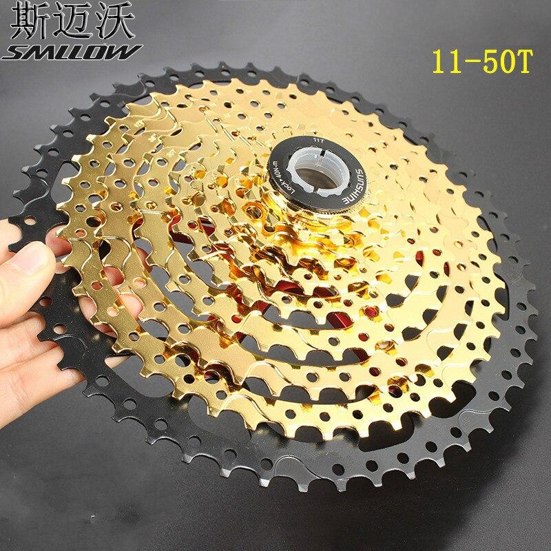 SUNSHINE 9/27 S vitesse Cassette 11-50 T rapport large vélo roue libre VTT vtt vélo Cassette volant moteur or