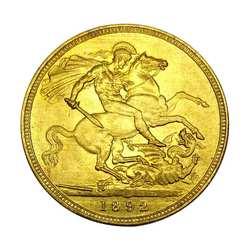 AUGKUN 1891/1892 антикварная монета викторианская лошадь меч Золотая монета британская памятная монета для подарка