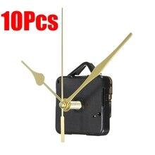 10 шт автомобилей Главная кварцевые часы с механическим ходом длинный шпиндель золото DIY ручной инструмент для ремонта Запчасти Комплект Универсальный