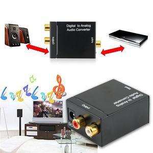 Image 5 - Neue Schwarz Digital Optical Koaxial Toslink Signal Zu Analog Audio Konverter Adapter RCA Digital Zu Analog Audio Konverter Adapter