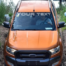 4 inch heigth OUTLINE TEXT decal sticker any 1 Color WINDSHIELD for ford ranger