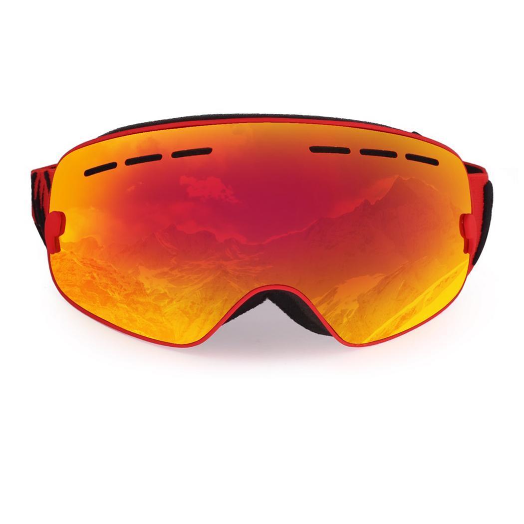 Enfants Durable neige Ski lunettes Double lentille Anti-buée 110g coupe-vent masque 190x120x110mm TPU PC lunettes