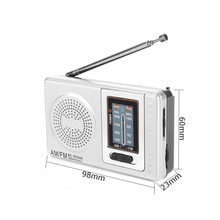 AM/FM Mini Portable Radio Dual Bands Radio Pockets Radios AM FM Telescopic Antenna World Receiver With Built-in Speaker(China)