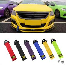 Towing Rope Racing Car Universal Tow Eye Strap Tow Strap Bumper Trailer High Strength Nylon Tow Ropes For Cars Ford OMP JDM Tra цена и фото
