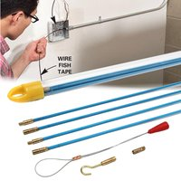 10 pçs 6mm cabo de fibra de vidro extrator executando cabo de fio coaxial elétrico peixe fita puxar kit threader guia eletricistas|Acessórios para ferramenta elétrica|   -