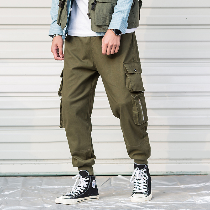 Japanese Style Men 39 s Leisure Time Casual cargo Pants men Fashion Trousers Wear Trend More Pocket Joggers military Sweatpants in Skinny Pants from Men 39 s Clothing