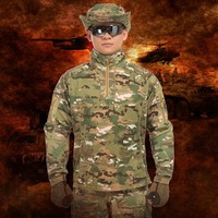 Outdoor Mens Camouflage Tactical Uniform Suit Army Fans Field Jungle Combat Training Climbing Camping Sportswear Shirt Pants Set