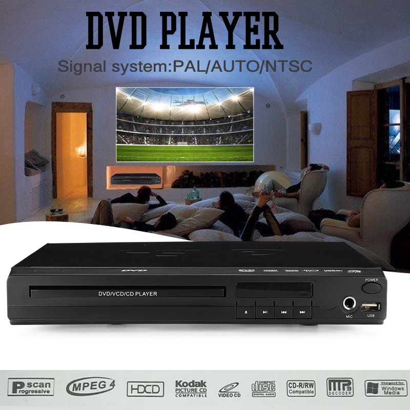 цена на 100V-240V USB Portable Multiple Playback DVD Player SVCD/VCD/DVD-R/CD/CD-R/CD-RW/DVD+RW/DVD-RW discs Home Theatre System MP3/WMA