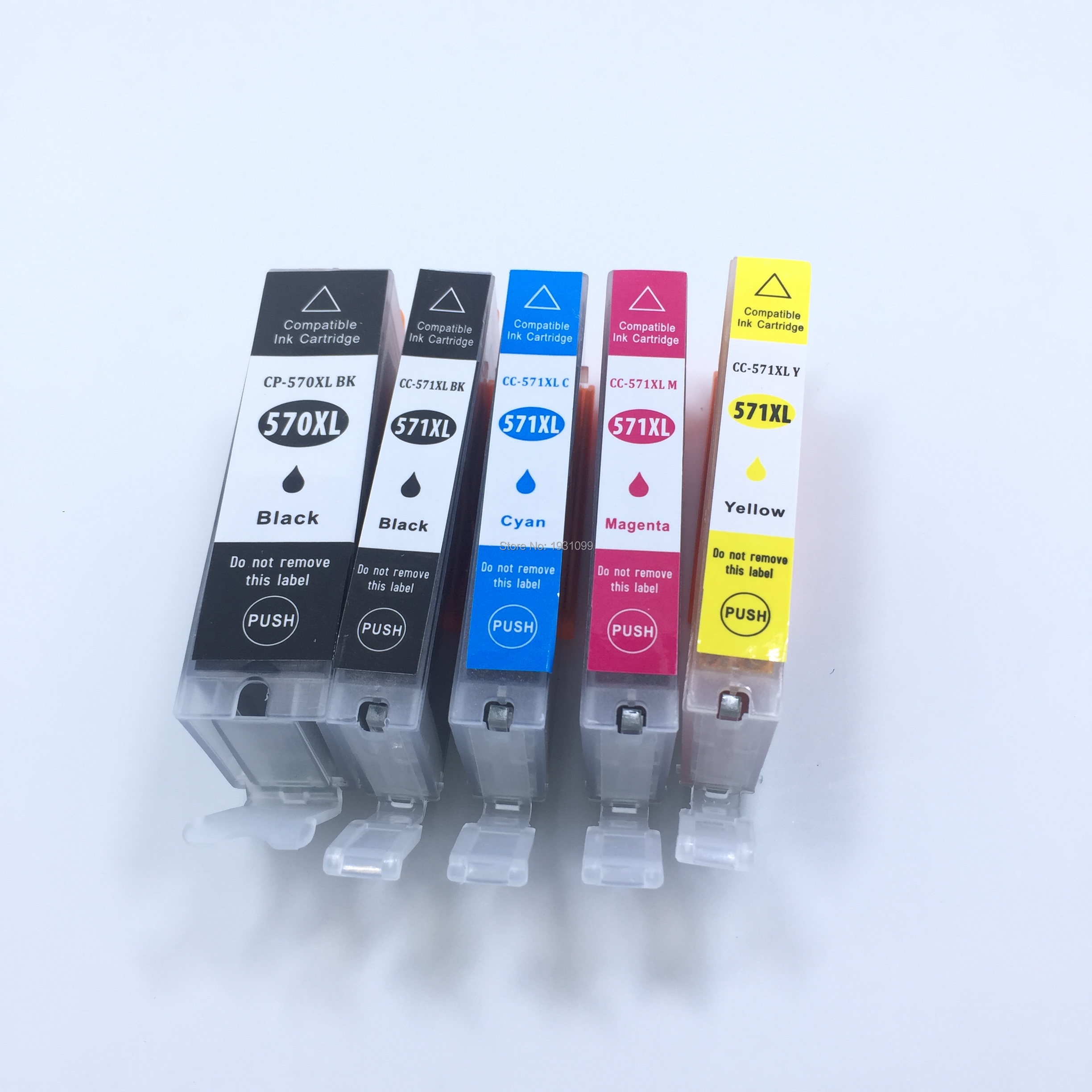 YOTAT 5pcs Compatible PGI-570XL ink cartridge PGI570 PGI-570 CLI-571 for Canon PIXMA MG5750 MG5751 MG5752 MG5753 MG6850 <font><b>TS5050</b></font> image