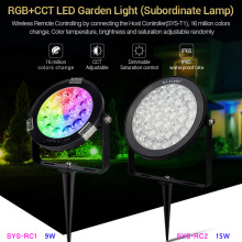 цены mi light 9W 15W RGB+CCT LED Garden Light Subordinate Lamp LED Landscape light WIFI Smart phone APP Dimmable 2.4G remote control