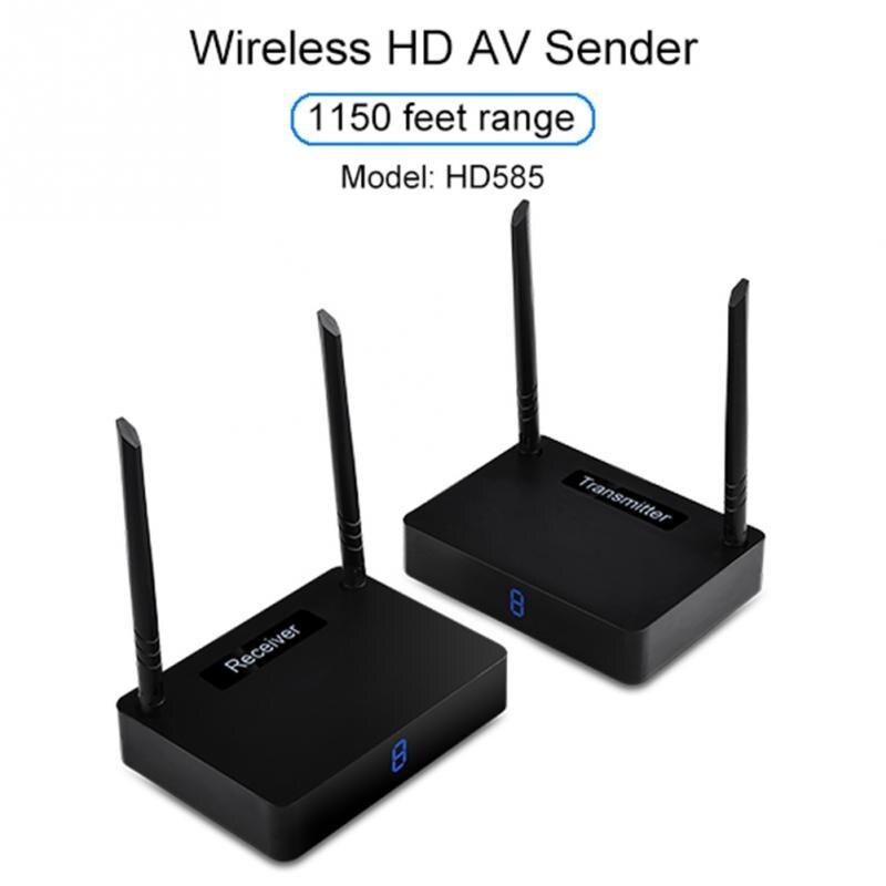 5.8GHz 350M Wireless HDMI Transmitter Sender Receiver Audio Box TV Sender HDMI 1080P 60fps Dual-antenna Design #1026 цена и фото