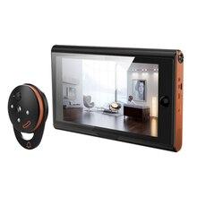 7 אינץ אלחוטי דיגיטלי חור ההצצה Viewer אבטחת בית חכם וידאו פעמון Pir זיהוי תנועה והקלטה 170 מעלות זווית