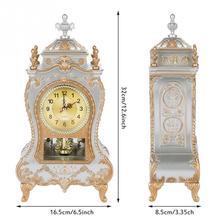 Vintage Style Plastic Table Clock, Home Hotel Decorative Desk Alarm Clocks