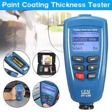 Digital CEM DT-156 Paint Coating Thickness Gauge Meter Tester 0~1250um with Built-in Auto F & NF Probe + USB Cable + CD software