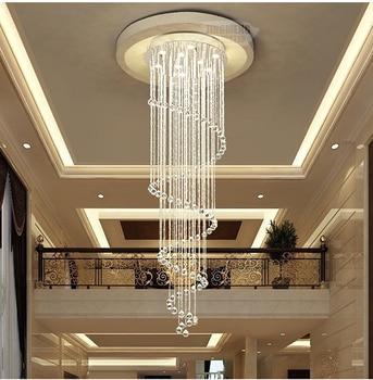 LED Modern Kreatif Langit-langit Cahaya Mewah K9 Kristal untuk Tangga Restoran Living Kamar Home Light Engineering Cahaya