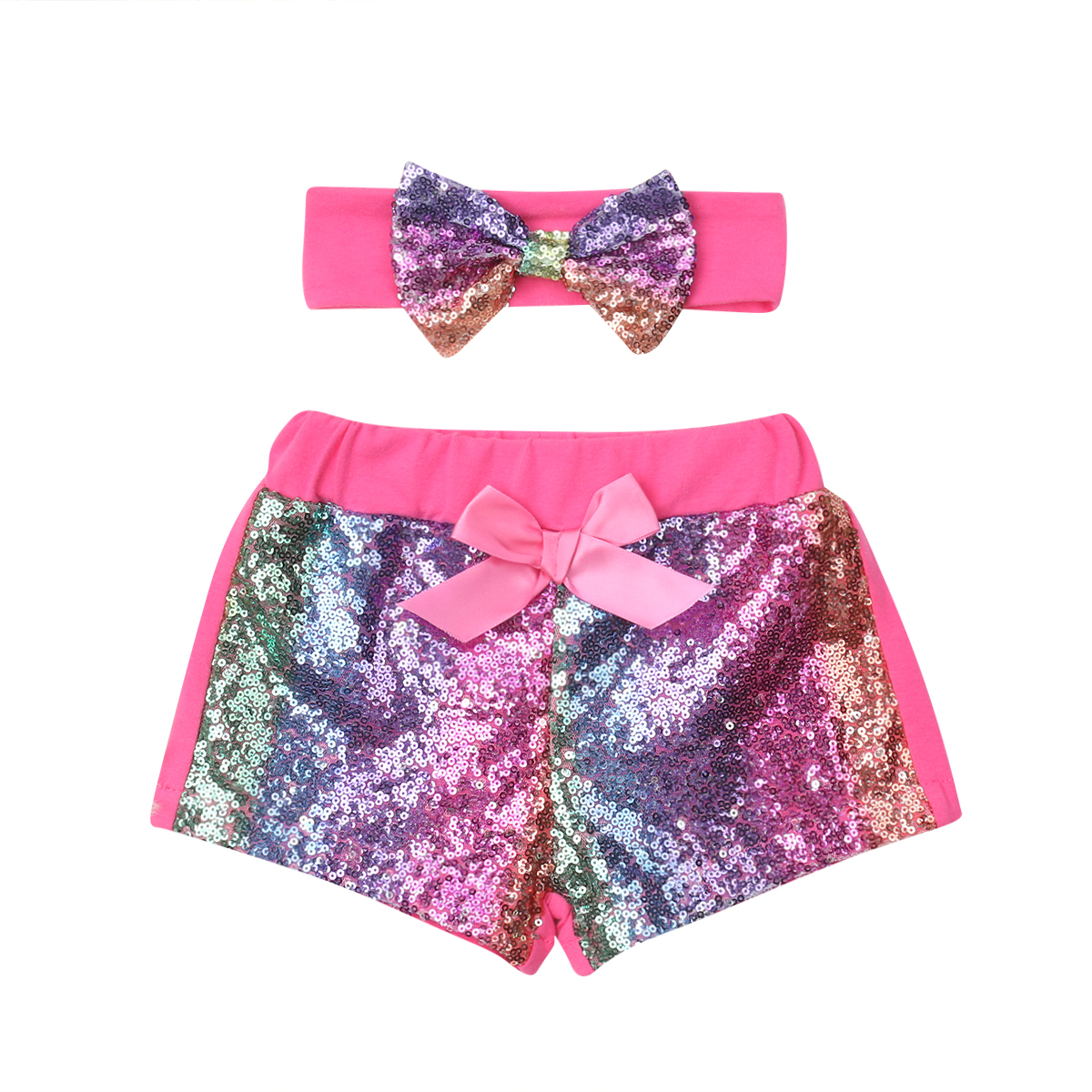 Toddler Infant Kids Baby Clothes Girl Shorts Bow-Knot Party Bottoms Sequin Headbands 2PCS Girls 0-3TToddler Infant Kids Baby Clothes Girl Shorts Bow-Knot Party Bottoms Sequin Headbands 2PCS Girls 0-3T