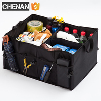 Car Trunk Bag SUV Box Organizer Folding Storage Bags Portable Travel Auto Tools Rear Cargo In Auto Stowing Tidying Accessories