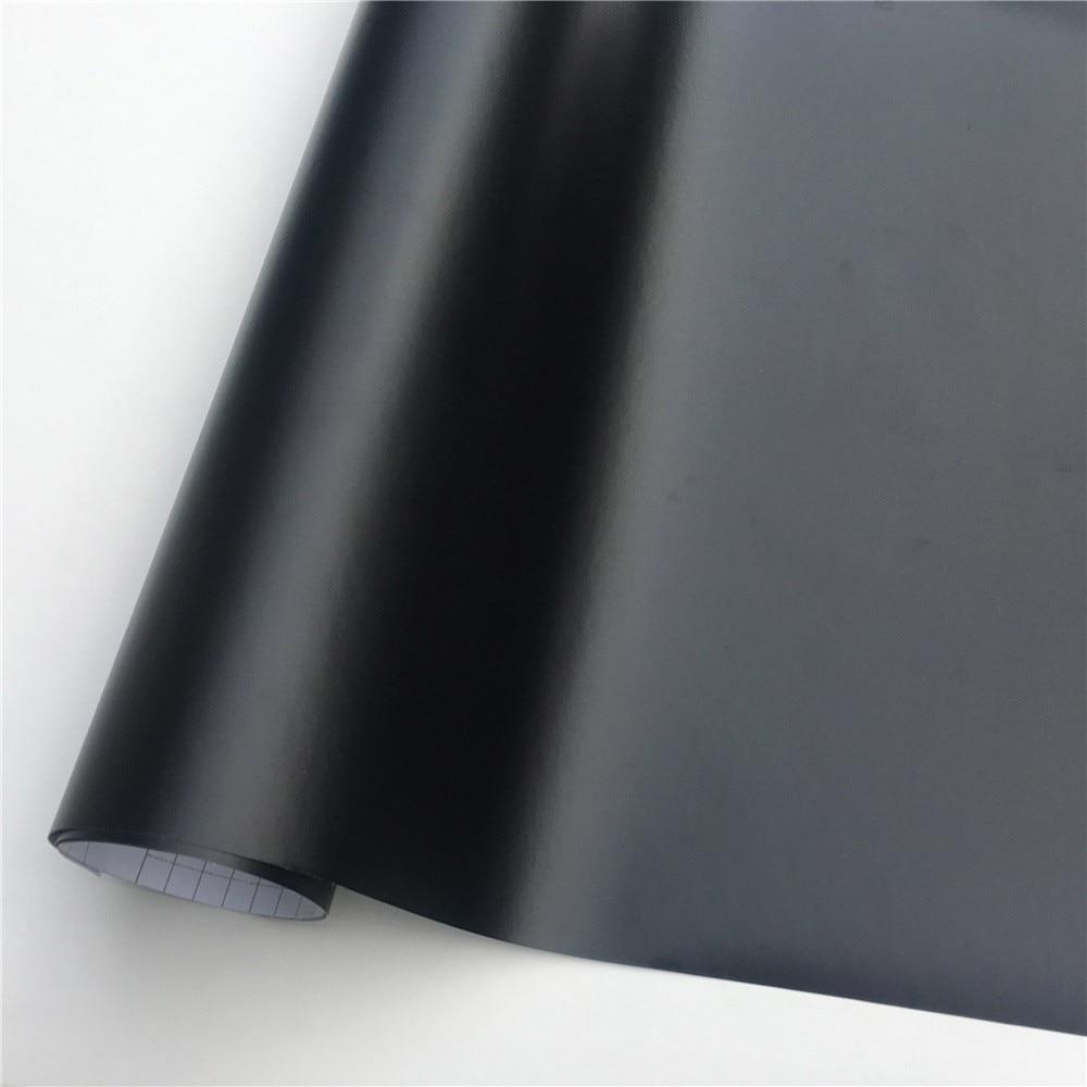 Matte Black Vinyl Film Wrap Foil Sticker Vehicle Wraps Console Computer Phone Cover Skin