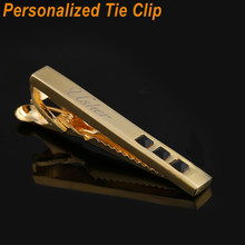 9d3f4ed50649 Personalized Custom Name Tie Clip for Men's Gift Customized Engraved Tie  Bar Men Jewelry for Wedding Party Gold Tie Pin Stickpin