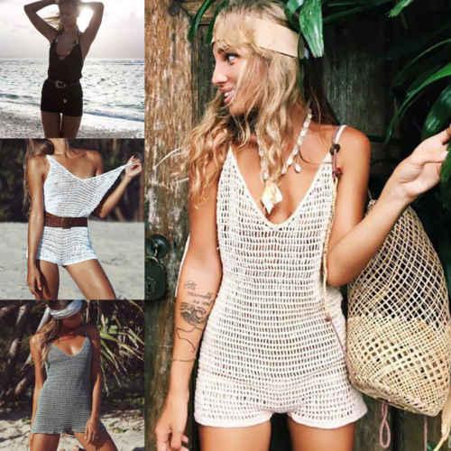 2019 Новая Летняя женская сексуальная пляжная одежда купальник с кружевной отделкой бикини платье