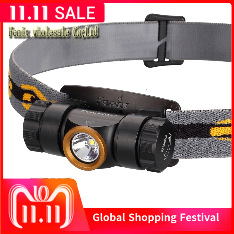 Image 1 - 2015 Best Selling Camping Head Lamp FENIX HL23 LED Waterproof AA Headlamp with Free Battery-in Headlamps from Lights & Lighting