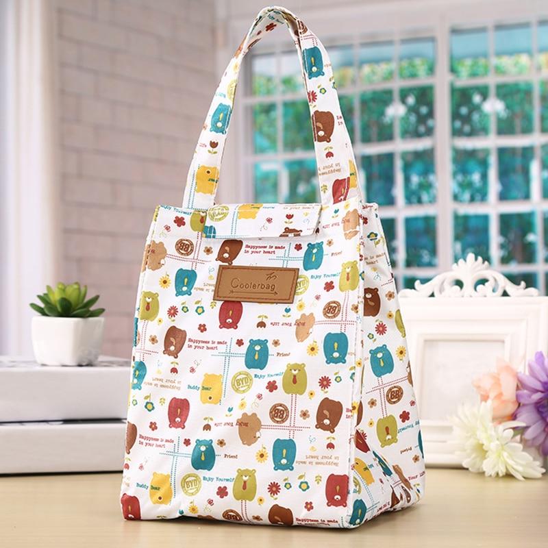 2018 Women Thermal Insulation Lunch Bag Big Capacity Travel Women Handbag Food Picnic Cooler Box Bag Storage Tote Bag цена
