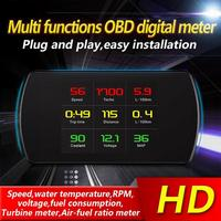 P12 4.3 TFT OBD Hud Head Up Display Digital Car Speed Projector On Board Computer OBD2 Speedometer Fault Code Clearing