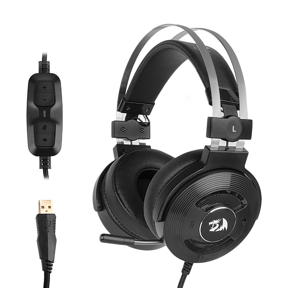 Redragon H991 TRITON Active Noise Canceling Gaming Headset 7 1 Channel Headphone With Microphone PC Earphone
