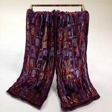 Бархатный шелковый шарф женский размер: 24*145 см Женский Мужской#509 двухэтажный