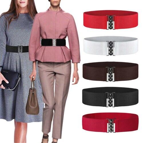 Hirigin Women Fashion Stretch Buckle Waist Belt Wide Elastic Cinch Corset Waistband