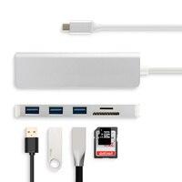 Adaptador de USB-C de aleación de aluminio tipo C, lector de tarjetas SD con puerto USB 3,0 para Chuwi Hipad Plus Hi10 X UBook Pro X Hi10x Laptap Tablet
