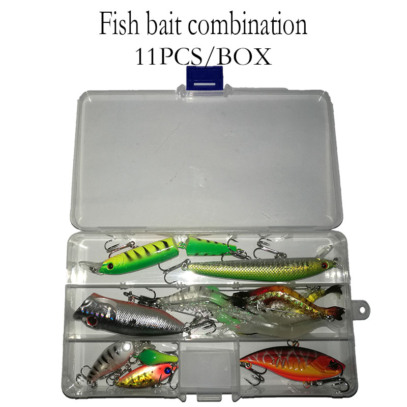 11PCS/Box Fishing Lure ,Fishing bait suitable for different sites,Fishing bait box assembly