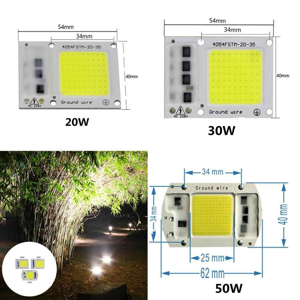 Умный IC драйвер светодиодный Лампа COB чипы 15 Вт 20 Вт 30 Вт 50 Вт Светодиодный прожектор 110/220 В COB светодиодный светильник чип прожектор чип