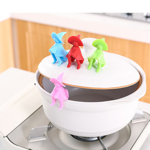 Creative villain Silicone Kitchen utensils Lift Pot Cover Overflow Device Heighten Tools Garget Cooking tool Accessories