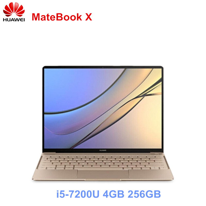 Huawei MateBook X Notebook 13.0 Inch Intel Core I5-7200U 4GB 256GB SSD Computer Windows 10 IPS 2160x1440 Fingerprint Mini Laptop