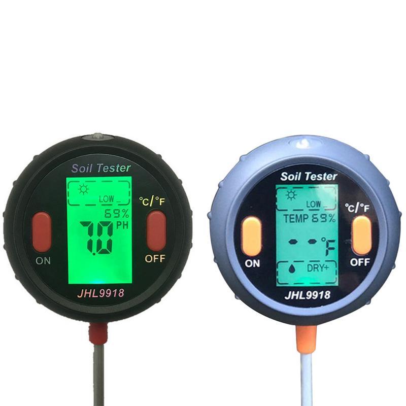 Анализатор почвы 5 в 1 садоводства и гигрометром декоративные часы для освещенность термометр для измерения измеритель кислотности почвы