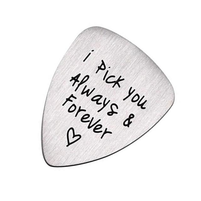Engraved Letters Guitar Pick