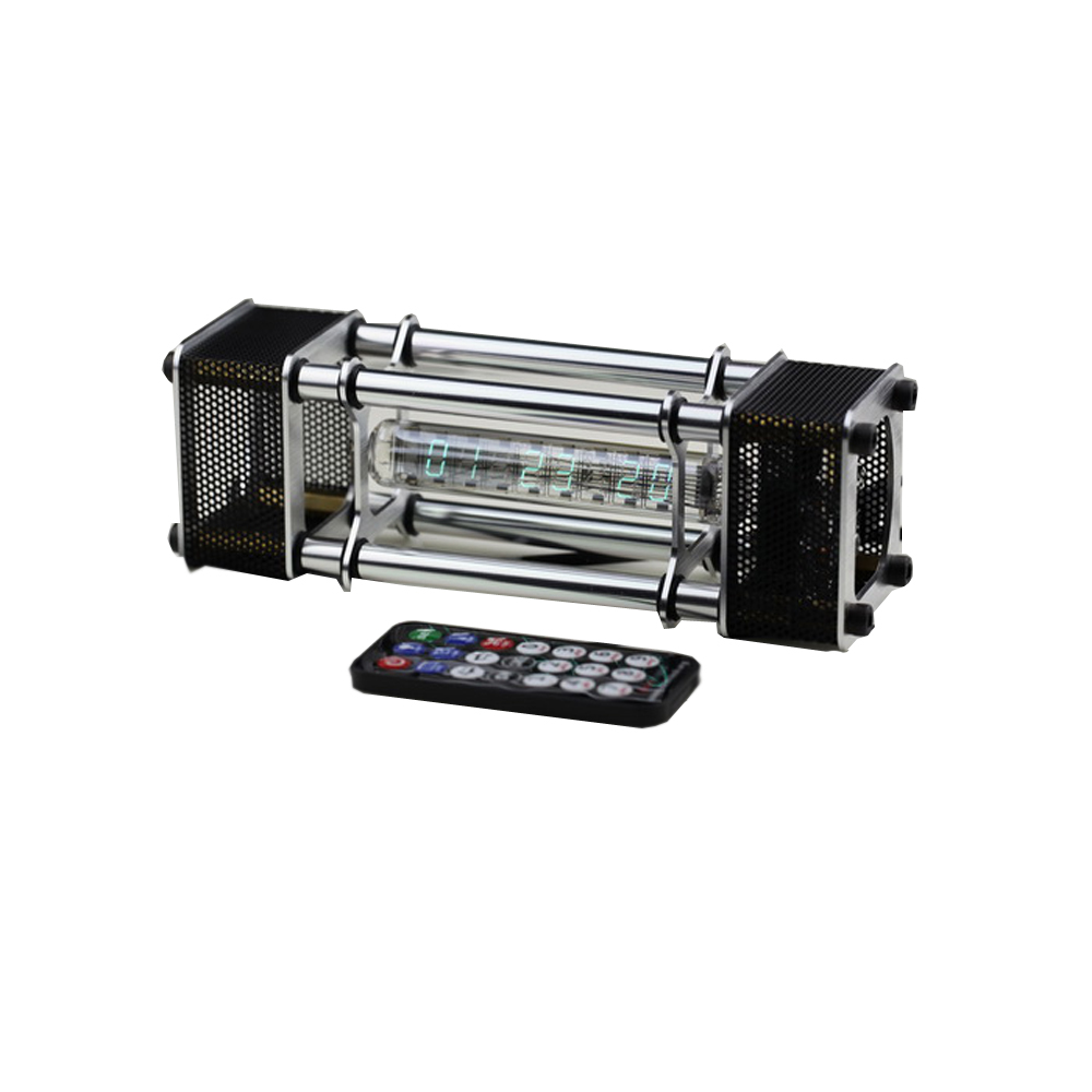 Собранный IV 18 люминесцентные трубки часы 6 цифровой дисплей алюминий сплав энергии столб с дистанционное управление модуль