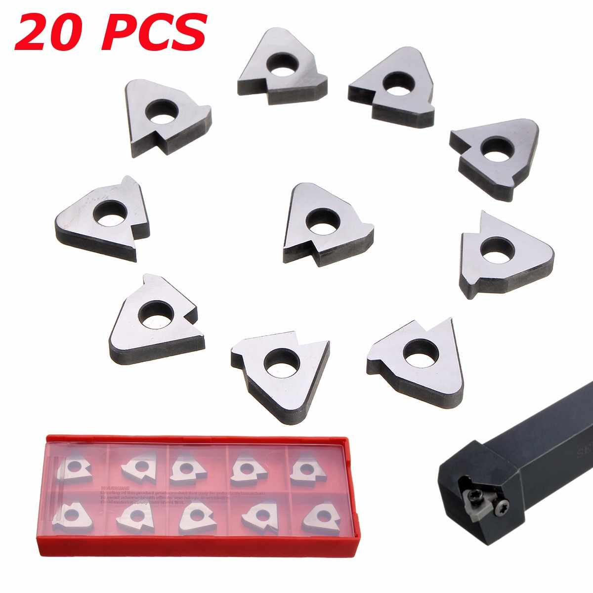 10x Durable Metal Carbide Inserts Turning Tools For 16ER AG6//16IR AG60 SER//SEL