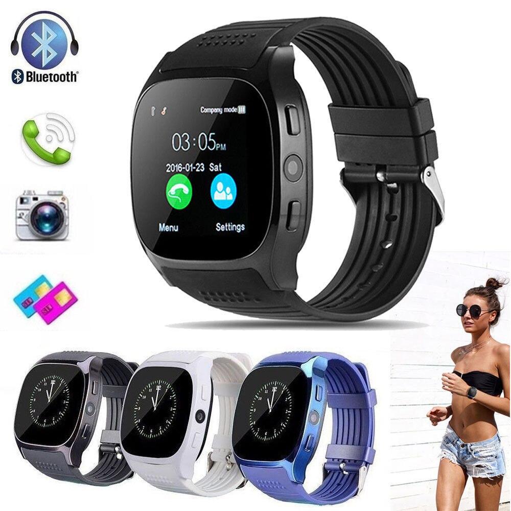 Smart Menschlichen Körper Sensoren T8 Bluetooth Smart Uhr Mit Kamera Facebook Whatsapp Unterstützung SIM TF Karte Anruf Für Android-Handy