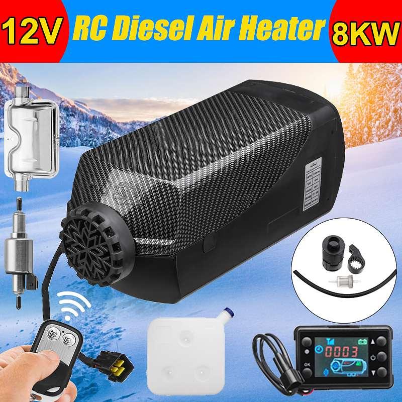 12 В 8000 Вт 8кВт автомобильный нагреватель воздуха дизелей топлива стояночный нагреватель ЖК монитор Пульт дистанционного управления для RV Г