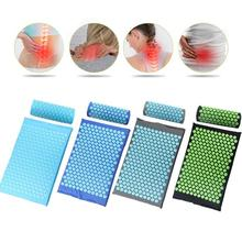купить Acupressure Massager Cushion Relieve Relaxation Body Foot Back Stress Pain Spike Mat Acupressure Yoga Mat Cushion with Pillow по цене 475.46 рублей