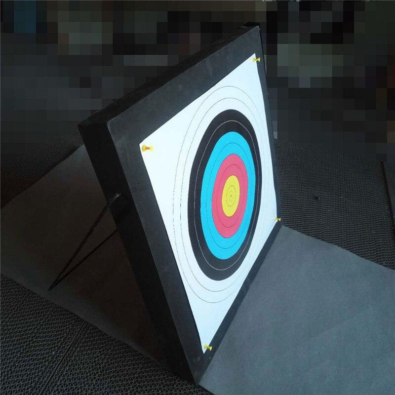 50x50x5 cm EVA Mousse Conseil Tir À L'arc Cible Avec Objectif Papier Auto-Guérison Tir Équipement Cible Arc dart Formation Pratique Jeux