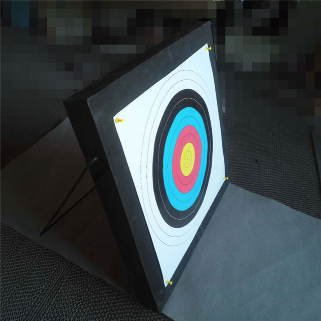 50x50x5cm EVA Foam Board Archery Target With Aim Paper Self Healing Shooting Target Equipment Bow Dart Training Practice Games