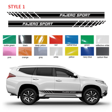 car stickers 2pc side body grid gradient styling graphic vinyls accessories decal custom for mitsubishi pajero sport