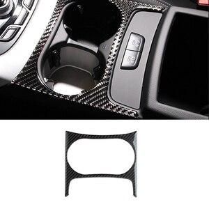 Image 2 - Für Audi Q5 2009 2010 2011 2012 2013 2014 2015 2016 2017 Carbon Faser Auto Wasser Tasse Halter Panel Abdeckung
