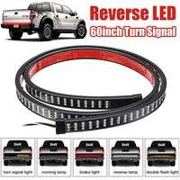 60'' 1.5M Waterproof 216LED Strip DC12V Car Trunk Sequential LED Strip Turn Signal Switchback Indicator Reverse Light Backlight