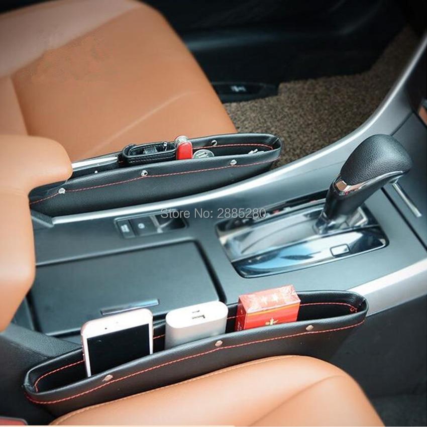 Alta qualidade nova venda de armazenamento lacuna assento de couro Do Carro PARA Renault Megane 2 3 4 3 Duster Logan Clio Laguna 2 2 Scenic Sandero Captur